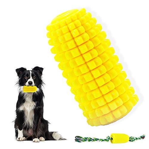 Hundespielzeug mit Seil, Unzerstörbare Hunde Kauspielzeug, Hunde Spielzeug Interaktives Zahnpflege Naturkautschuk, Zahnbürste Hunde Zahnreinigung Intelligenzspielzeug für Kleine/Mittlere/Große Hunde