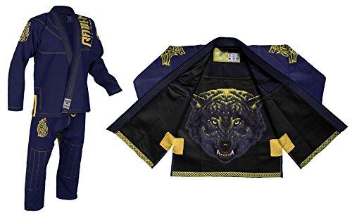 Raven Fightwear BJJ Gi Ulfhedinn Men's -A5 Brasileños Jiu Jitsu Kimono Hombre MMA Uniform Algodón Judo Grappling Artes Marciales Karate