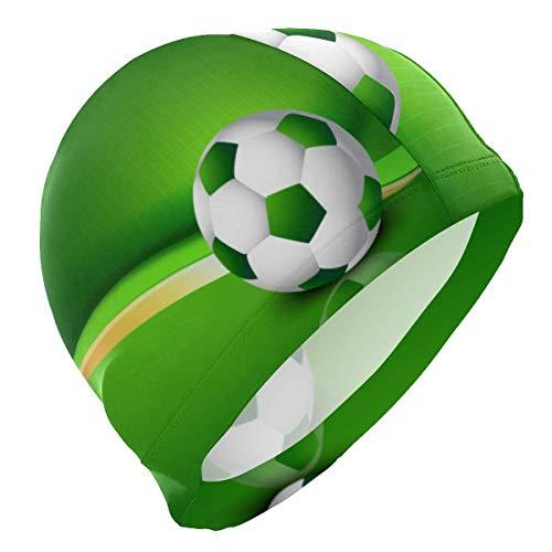 Tcerlcir Gorro Natación Fútbol Gorro de Piscina para Hombre y Mujer Hecho de Silicona Ideal para Pelo Largo y Corto