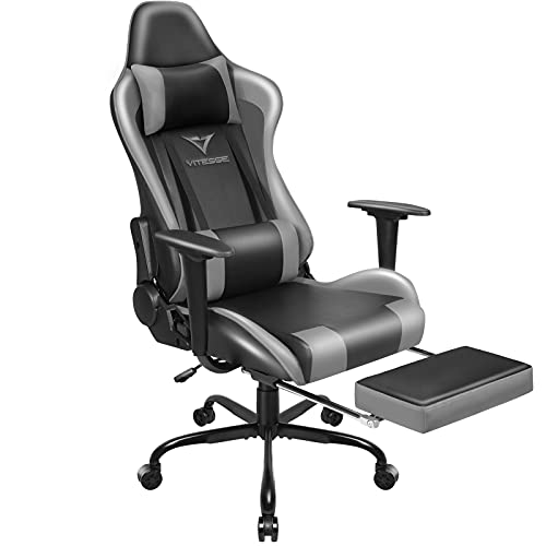 Vitesse Gaming Chair Office Computer Desk Chair with Footrest and Headrest Racing Game Ergonomic...