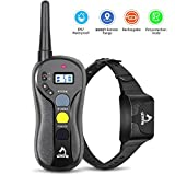 PATPET Shock Collar for Large Dogs, 3000FT Long Remote Range, IPX7 100% Waterproof Dog Training Collar, Beep/Vibration/Shock Modes, 2 Dog System, 2 H Rapid Charging, Innovative Hand Friendly Remote