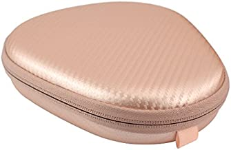 Geekria EJB51 Hard Carrying Case, Compatible with LG HBS 1100, HBS 910, Jabra, Bluenin, Bluetooth Wireless Stereo Headset/Protective Travel Bag (Rose Gold)