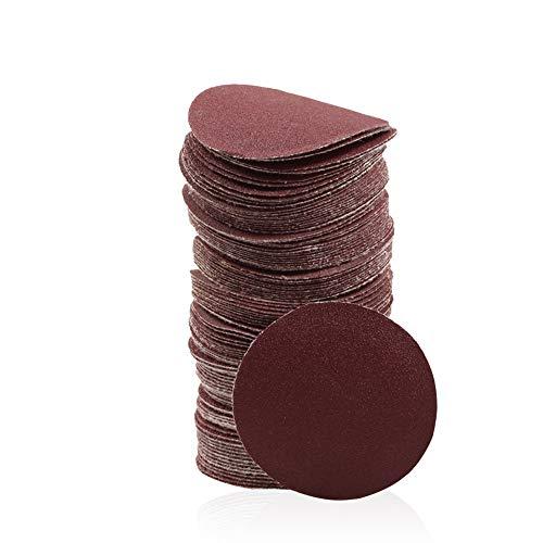 SPEEDWOX 木工用サンドペーパー サンディングペーパー #180 100枚 50mm マジック式 丸型 穴なし 紙やすり サンディングディスク 研磨