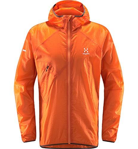 Haglöfs Windbreaker Herren L.I.M Shield Comp Hood wasserdicht, Winddicht, atmungsaktiv Flame Orange XXL XXL