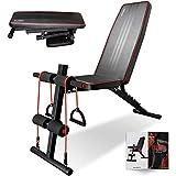 arteesolトレーニングベンチ 折り畳み ダンベルベンチ 可変式 収納便利 角度調節可能