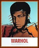 ポスター アンディ ウォーホル モハメド アリ 1977 額装品 ウッドハイグレードフレーム(ナチュラル)