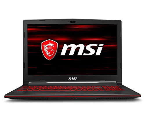 MSI GL63 8RD-618IT Notebook, 15.6'' LCD, Intel Processore i5-8300H, 128GB NVMe PCIe SSD +1TB (SATA), 8GB RAM, Nvidia GTX 1050 Ti da 4GB GDDR5 [Layout Italiano]