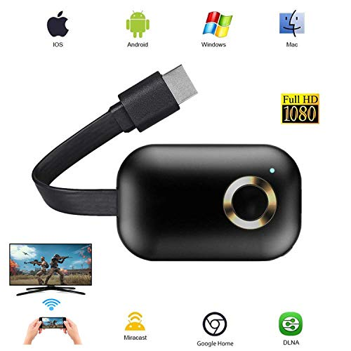 Wireless WiFi Display Dongle 4K UHD HDMI, LiveRowing Récepteur D'affichage de Partage D'écran sans Fil WiFi, Adaptateur D'affichage sans Fil pour Smartphone Android/iOS/PC/TV/Moniteur/Projecteur
