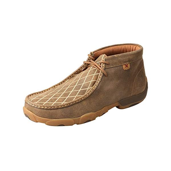Twisted X Men's Lace Leather Handcrafted Chukka Driving Mocs