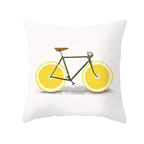 YIXIA Household Goods - Funda de almohada para sofá cama, silla, diseño de hojas de piña, color amarillo