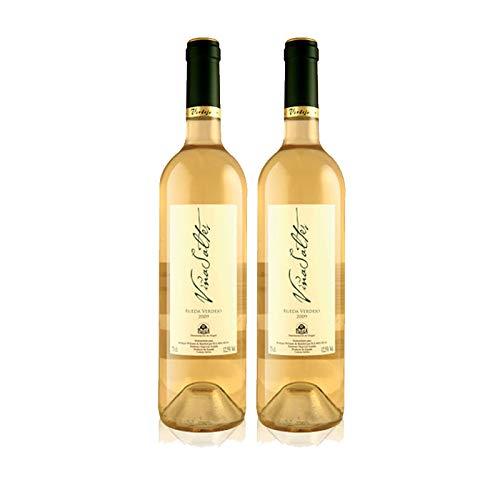 Vino Blanco Verdejo Viña Saltes de 75 cl - D.O. Rueda - Bodegas Williams & Humbert (Pack de 2 botellas)