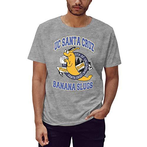 UC Santa Cruz Banana Slugs Vincent Vega Pulp Fiction Camiseta Gris para Hombre Size L