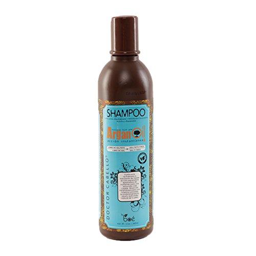 Champú con Aceite de Argán Doctor Cabello 340ML- Shampoo Hidratante, Champú sin Sal, Champú sin Sulfatos Hecho con Aceite de...