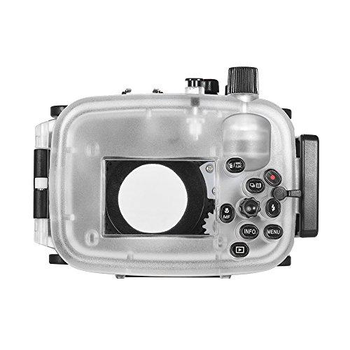 Lepeuxi MEIKON cámara Impermeable de Buceo Cubierta de la Cubierta Protectora de la Caja bajo el Agua 40m / 130 pies para Canon Mark II G7X