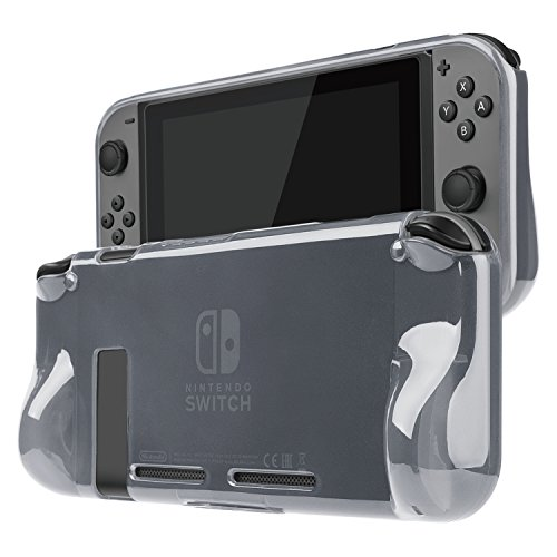 TNP Case Cover for Nintendo Switch Console & Joy-Con Controller - Travel Friendly TPU Plastic Shell Protector, Anti-Scratch Shockproof Protective Switch Accessories (Black)