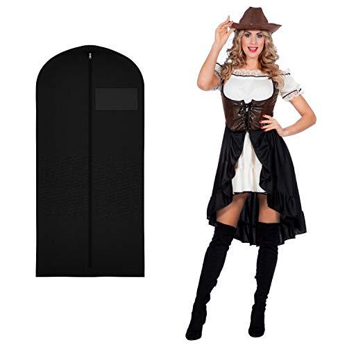 WOOOOZY Damen-Kostüm Western Saloon Girl / Lady, Gr. 42 - inklusive praktischem Kleidersack