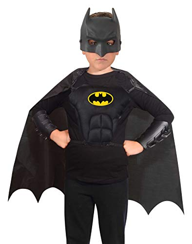 Ciao 20092 Batman Kit Disfraz Original Dc Comics (Niño 5-12 Años): Máscara, Capa, Corpiño, Pulseras