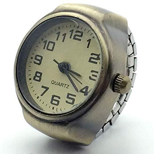 Retro römische Ziffern Finger Uhr Ring Uhr, Persönlichkeit Quarz Finger Uhren Ring Frauen Uhren Quarz Männer Finger Uhr Mini kleines Geschenk,4