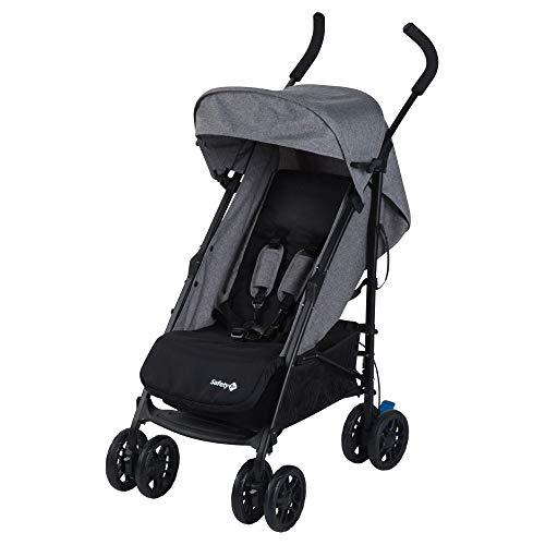 Safety 1st Buggy Up to Me, wendiger Kinderwagen mit 4-fach verstellbarer Rückenlehne und gepolstertem Sitz, Leicht zu transportieren, nutzbar ab der Geburt bis max. 15 kg, black chic/schwarz