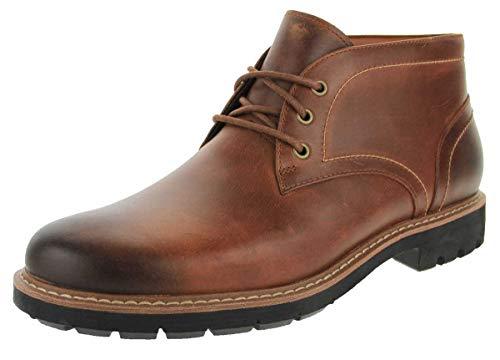 Clarks Herren Batcombe Lo Chelsea Boots, Braun (Dark Tan Lea), 44 EU