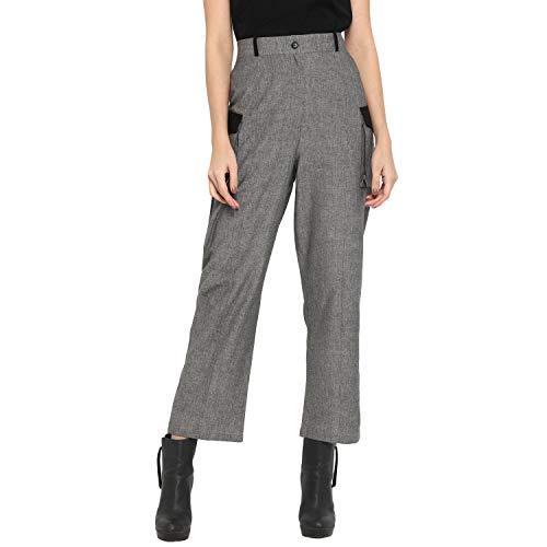 DEEBACO Women's Regular Fit Linen Ankle Length Latest Solid Cargo...