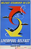 Liverpool Belfast Poster, Reproduktion, Format 50 x 70 cm,
