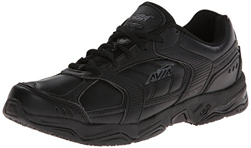 AVIA Women's Avi Union Service Shoe, Black/Steel Grey, 6 B(M) US