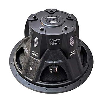 Lanzar 15in Car Subwoofer Speaker - Black Non-Pressed Paper Cone Stamped Plastic Basket Dual 4 Ohm Impedance 2000 Watt Power - MAXP154D