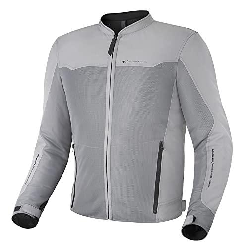SHIMA OPENAIR Chaqueta Moto Hombre | Ligera y Transpirable Cazadora Moto Mesh de Verano Hombre con CE Espalda, Hombros, Codos Protecciones, Ajuste de la Anchura (Gris, XL)