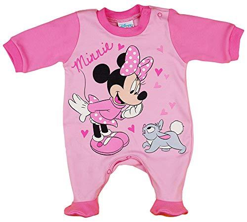 Disney Baby Minnie Mouse Mädchen Strampler mit Fuß, Ärmellos und Langarm *viele Modelle* in Größe 56 62 68 74 Baumwolle auch als Baby Schlafanzug Farbe Modell 13, Größe 74