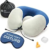DD D&D Wanderlust Neck Pillow for Airplane Travel, Memory Foam Travel Pillows for Airplanes
