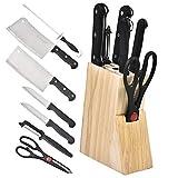 Conjuntos de cuchillos de cocina de 8pcs / set con excelente conjunto de madera/cuchillo de acacia súper afilado japonés damasco de cuchillos de acero juego de cuchillos de cuchillo