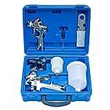vidaXL Kit Pistola Verniciatura a Spruzzo per Auto Set Aerografo Multifunzione