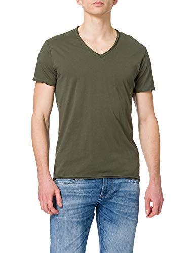 REPLAY M3591 Camiseta, 432 Dark Military, XL para Hombre