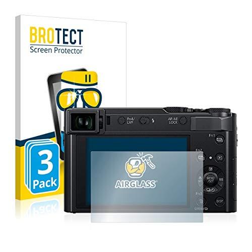 3X BROTECT AirGlass Premium Glasfolie für Panasonic Lumix DC-TZ202 (extrahart, ultradünn, hochtranzparent, Anti-Fingerprint, flexibel)