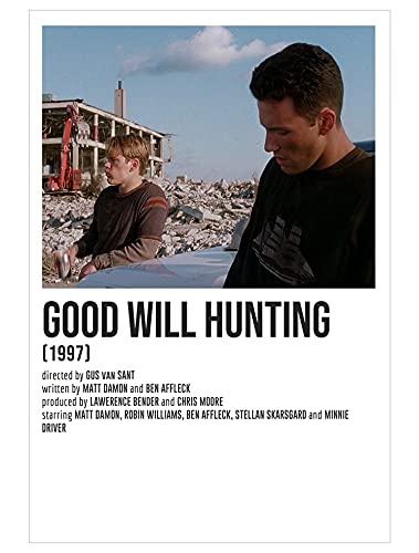 Nirvan Good Will Hunting The Young Matt Damon Ben Affleck Drama Film Poster 9x11 Inch