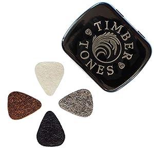 Felt Tones Mini Gitarre Plektrum, gemischt (Dose mit 4Stück)