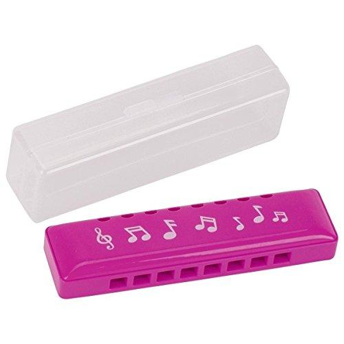 Goki 13228 Mundharmonika in Kunststoffschachtel, rosa