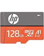 HP MicroSD Card U3, A1 128 GB  High Speed (Write Speed 85MB/s & Read Speed 100 MB/s Records 4K UHD and Fill HD Video)