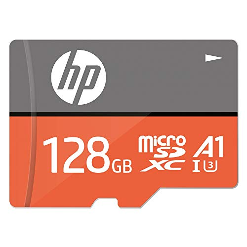 HP MicroSD Card U3, A1 128 GBHigh Speed (Write Speed 85MB/s & Read Speed 100 MB/s Records 4K UHD and Fill HD Video)