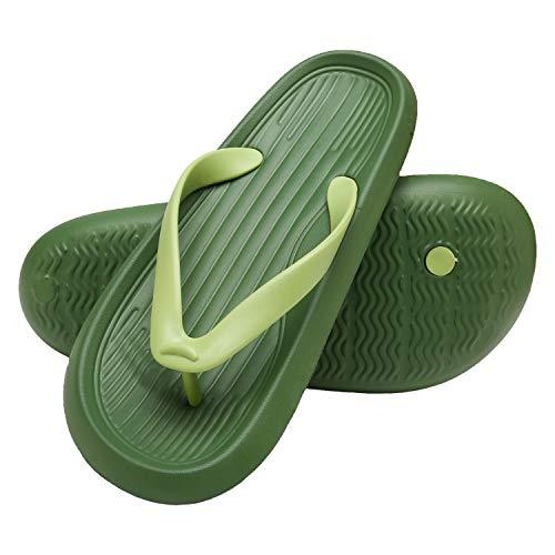 ChayChax Chanclas Hombre Mujer Verano Sandalias de Playa y Piscina Ligero Zapatillas de Ducha Antideslizante(Verde,38-39 EU