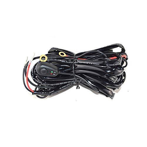 YUOP Arnés de cableado 10CS barra de luz de trabajo 72W-500W 12v 24v 40A kit de cable de relé para conducción automática fuera de carretera lámpara de trabajo