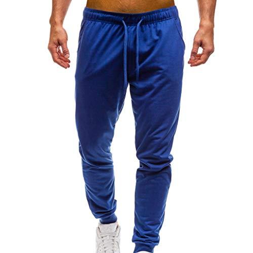KPILP Herren Sweatpants Sporthose Jogginghose Trainingshose Jogging Jogger Freizeithose Fitnesshose Sport Fitness(Blau,M)
