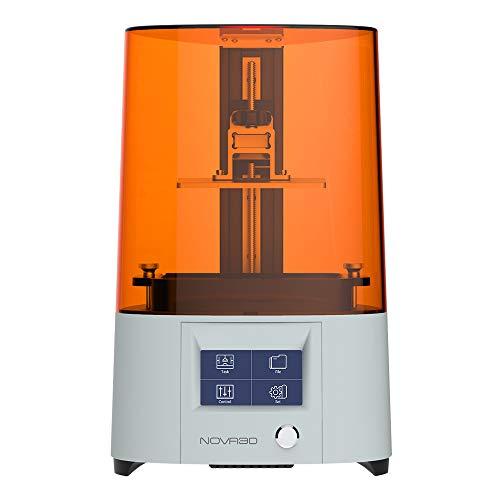 NOVA3D ELFIN2 Mono SE - Stampante 3D in resina 3D con WLAN/WiFi - 130 x 75 x 150 mm UV LCD 3D con 8 GB di memoria, schermo monocromatico SLA Resin Printer prevediente