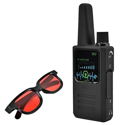 Rilevatore di Segnale Wireless con Telecamera Anti-Spionaggio Anti-Spionaggio Multifunzione con Rilevatore di Segnale Occhiali M003,Nero