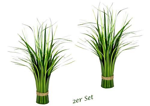 Künstlicher Gras Bund stehend, Stehgras, Grasbündel, künstliches Dekogras, Kunstgras, künstliche Pflanzen, Ziergras, Grasbusch, Grasbüschel, Deko, Grasarrangement, Gräser, Schilf-Gras, 2er Set