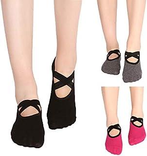 Kitty princess, 3 pares de calcetines de yoga pequeños calcetines redondos de encaje sin espalda calcetines de yoga señoras calcetines de deslizamiento calcetines de baile