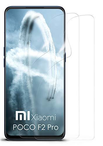 moex Klare Schutzfolie kompatibel mit Xiaomi Poco F2 Pro - Displayfolie kristallklar, HD Displayschutz, dünne Kratzfeste Folie, 2X Stück