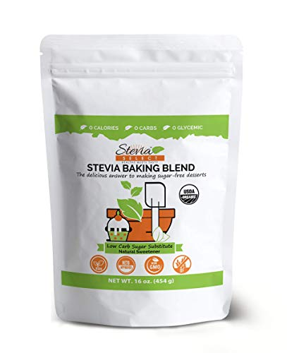 Keto Sugar Organic Stevia Baking Sugar Substitute-Erythritol Sweetener-Keto Approved-Zero Net Carbs-Non GMO All Natural Stevia Sweet (Granular 16 oz.)