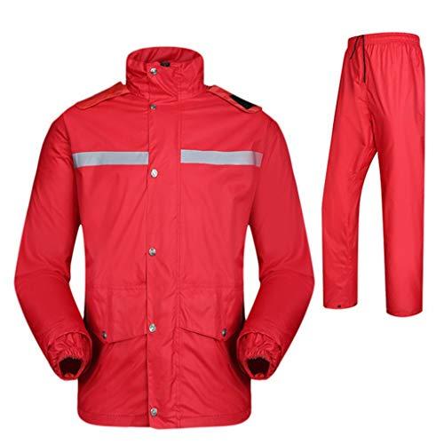 CHGDFQ Impermeable para Hombre con Capucha Reutilizable (Conjunto de Pantalones Impermeables y Impermeables) Trabajos para Adultos a Prueba de Lluvia y a Prueba de Viento con Capucha para Exteriores